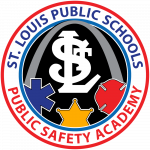 Logo of St Louis Public Schools  Public Safety Academy